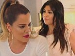 Wild mouth: Khloe Kardashian shared a foul-mouthed clip of herself on Sunday ahead of the next airing of Keeping Up With The Kardashians