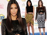 Top of the crops! Kim Kardashian and birthday girl Kylie Jenner shine in midriff-baring outfits as they lead glamour at Teen Choice Awards