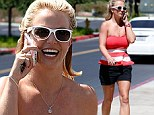 Oh La La! Britney Spears shows off fit physique in shorts and strapless sun top as new raw track surfaces (and the spoken parts sound great!)