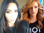 Bella Thorne kicks off the Teen Choice Awards as she poses with her glam squad... while Kim Kardashian posts selfie on way to show