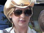 Giddy up! Sarah Michelle Gellar dons daisy dukes and a cowboy hat to take her two children to a Western themed party