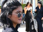 Birthday girl Kylie Jenner and her sister Kendall head out to meet Bruce Jenner for sushi