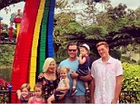 Fun therapy? Tori Spelling and Dean McDermott take their brood to Legoland... just days after hitting the San Diego Zoo