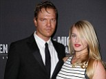 Wedding on the way: Jim Parrack and Leven Rambin, shown in April in New York City, have gotten engaged
