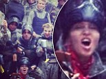 Madonna takes her son Rocco paint-balling in France for his 14th birthday