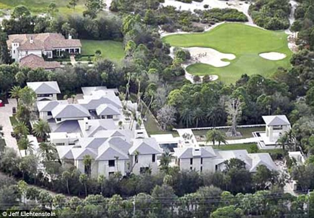 Home sweet home: Jordan's sprawling home is only 37,000-square-feet, which was deemed not enough space to give his 2,000 wedding guests enough room to roam around
