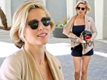 Elsa Pataky shows off her slender figure and toned legs in short shorts while out in Beverly Hills