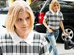 Preppy chic: Kate Mara was working it as she showed up for a meeting at the Bowery Hotel in New York City on Sunday