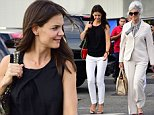 124227, Katie Holmes takes the heliport with her parents Kathleen Holmes and Martin Holmes, Sr. on their way to the Hamptons in New York City. New York, New York - Sunday August 10, 2014. Photograph:    PacificCoastNews. Los Angeles Office: +1 310.822.0419 London Office: +44 208.090.4079 sales@pacificcoastnews.com FEE MUST BE AGREED PRIOR TO USAGE