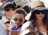 PICTURED: Orlando Bloom plants tender kiss on the shoulder of ex wife of Miranda Kerr's rumored lover James Packer while holidaying on idyllic Balearic beach