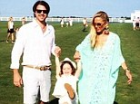 Rachel Zoe shares a sweet family snap with husband Rodger and eldest son Skyler at the Hampton's Cup polo match on Sunday