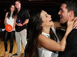Bowling bliss: Andi Dorfman surprised her fiance Josh Murray with a 30th birthday party at The Painted Pin in Atlanta, Georgia on Friday