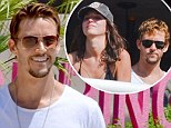Ryan Kwanten cuddles up to girlfriend Ashley Sisino as they soak up the sun at Palm Springs pool festival ahead of the True Blood finale