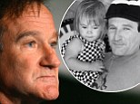 Pictured: Robin William and daughter Zelda Rae in flashback childhood snap which actor shared on Instagram just 11 days before apparent suicide