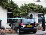 The black Hyundai Getz smashed into the terraced house on Saturday afternoon when it was empty
