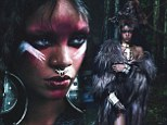 Fierce! Rihanna dons ornate nose ring and embraces her wild side with animal skull pendant and elaborate furs