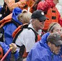 Vice President Joe Biden, center, is pictured cruising the Snake River with family and friends on Friday, Aug. 8 near Jackson Hole, Wyoming. The whitewater rafting trip is one of three mini-vacas Biden has been on in the last two weeks