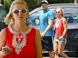 That's a 'short' lunch! Britney Spears and her beau David Lucado step out for a bite in matching summer wear