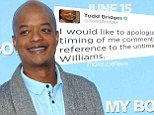 Different Strokes star Todd Bridges issues apology after criticising Robin Williams' apparent suicide as 'a very selfish act'