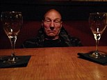 'And my first music festival is over': Patrick Stewart, 74, shares hilarious drunken photo following a weekend of overindulgence at Outside Lands