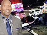 Dwayne 'The Rock' Johnson reveals his mother and cousin were hit by a drunk driver as he shares shocking Instagram photo of wreckage