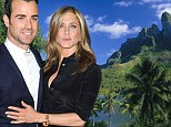 Wedding location scouting? Jennifer Aniston and Justin Theroux 'take romantic trip to Bora Bora to mark 2nd anniversary of their engagement'