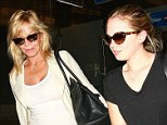Touch down! Melanie Griffith and her daughter Stella Banderas made for quite the cool pair as they touched down at LAX on Monday night