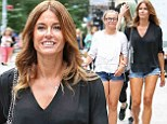 Kelly Bensimon bonds with her daughter Thaddeus during a relaxed outing in New York City