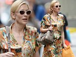 "Cate Blanchett walked to a performance of ""The Maids"" in Manhattan.\n\nPictured: Cate Blanchett\nRef: SPL819873  120814  \nPicture by: Doug Meszler / Splash News\n\nSplash News and Pictures\nLos Angeles: 310-821-2666\nNew York: 212-619-2666\nLondon: 870-934-2666\nphotodesk@splashnews.com\n"