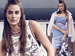 Braided beauty! Model Robyn Lawley sports towering tribal updo as she flaunts her curves in sexy Cosmopolitan spread