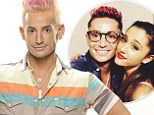 Big brother: Frankie Grande, shown in an undated file photo, was defended by his younger pop star sister Ariana Grande following a homophobic slur on Instagram