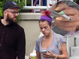 EXCLUSIVE: British Pop star Lily Allen Cooper steps out sans wedding ring with ex-boyfriend and long term friend Seb Chew while on tour in St. Louis, Missouri. The British pop star was photographed in Nashville at the weekend wearing her ring. Pics taken August 11th.\n\nPictured: Lily Allen steps out sans wedding ring with ex-boyfriend Seb Chew\nRef: SPL819784  120814   EXCLUSIVE\nPicture by: Splash News\n\nSplash News and Pictures\nLos Angeles: 310-821-2666\nNew York: 212-619-2666\nLondon: 870-934-2666\nphotodesk@splashnews.com\n