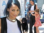 She's got her hands full! Nicole Richie juggles holding on to adorable daughter Harlow and dog Iro while out in Beverly Hills