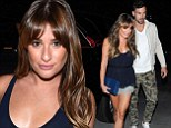 BRIEF encounter! Lea Michele sports skimpy top and tiny lacy shorts as she arrives at Justin Timberlake gig with beau