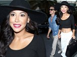 Happy couple: Naya Rivera and new husband Ryan Dorsey revelled in their honeymoon phase with a date night at a Justin Timberlake concert in Los Angeles on Tuesday