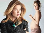 'I wanted a girl so badly!' Doutzen Kroes on newborn daughter Myllena Mae as she shows off her pregnant belly in pre-birth shoot