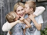 Kelly Rutherford and children look thrilled to be together in poignant new portrait... as she launches last minute legal bid to keep them from returning to France