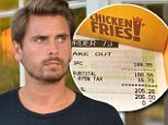 The Lord of the fries! Scott Disick splurges on $200 worth of fast food at Burger King