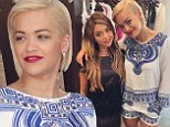 Gal pals: Rita Ora filmed a fashion segment at Planet Blue in Beverly Hills alongside Modern Family's Sarah Hyland