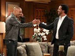 Shemar Moore is pictured making an appearance on The Young And The Restless after leaving show in 2005