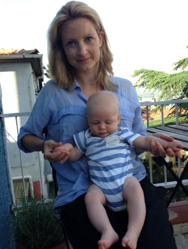 Stranded in Turkey: Caroline Dodsonan expat living in Turkey, has been told it may take up to a year to get a passport for her 11-week-old baby Wilfred