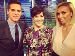 'Hey Dolls!' Kris Jenner raves about her new guest hosting gig on E! News in cosy snap with Giuliana Rancic and Jason Kennedy