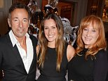LONDON, ENGLAND - AUGUST 13:  (L to R) Bruce Springsteen, daughter Jessica Springsteen and wife Patti Scialfa attend the 2014 Longines Global Championships Tour party at Claridge's Hotel on August 13, 2014 in London, England.  (Photo by David M. Benett/Getty Images for Maybourne Hotel Group)