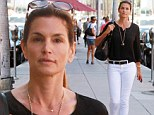 Classically chic: Cindy Crawford displayed her ageless beauty and lean physique as she stepped out in Beverly Hills on Wednesday