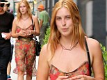 She's keeping it modest! Scout Willis covers up in see-through floral dress while out shopping in New York