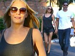 LeAnn Rimes shows off her toned legs in hotpants as she enjoys a dinner date with Eddie Cibrian