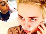 She's spot on! Miley Cyrus flaunts her 'zitcream mustache'... after kissing her piglet Bubba Sue on the lips