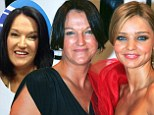 Like mother like daughter: Therese Kerr (right) shows where her daughter's supermodel good looks come from on Studio 10 on Thursday