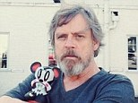 A huge cry from Luke Skywalker! A bearded Mark Hamill posts a picture on Instagram with Lava Bear on the set of Star Wars: Episode VII