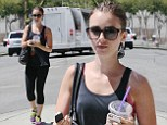 Lily Collins leaves the gym